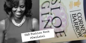 Fashion week Michelle Obama and Sloe Gin