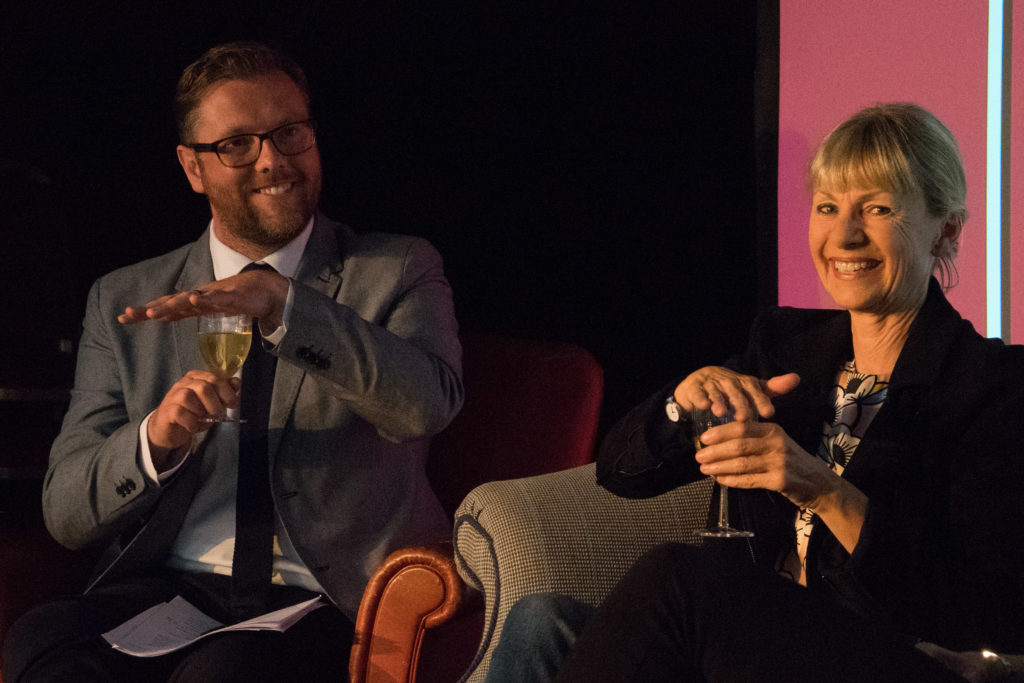 Kate Mosse with Damian Barr